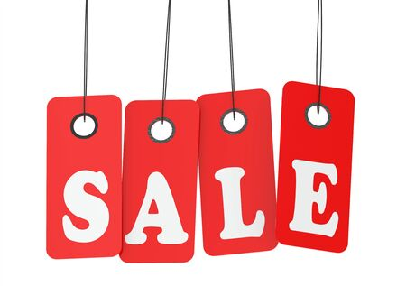 labelling: Sale tags Stock Photo