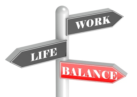 Work Life Balance signpost Stock Photo - 14094848