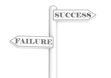 road sign success failure photo