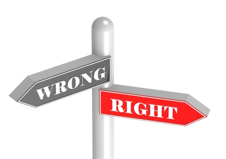 stock photos: Right and wrong