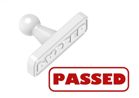 passed: Passed Stock Photo