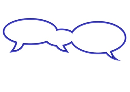 joined: Three joined speech bubbles in blue