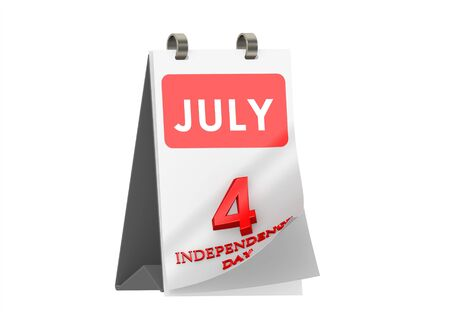 Calendar JULY 4, Independence Day of USA Stock Photo - 14185858
