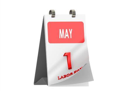Calendar MAY 1, Labor Day Stock Photo - 14185857