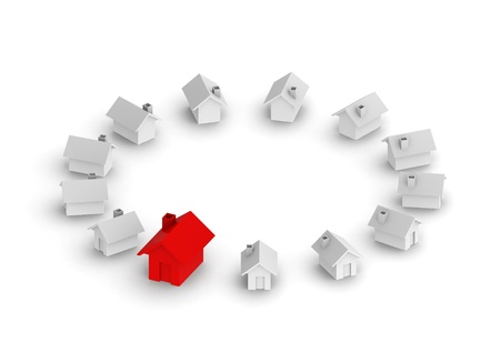 demos: House in the circle Stock Photo