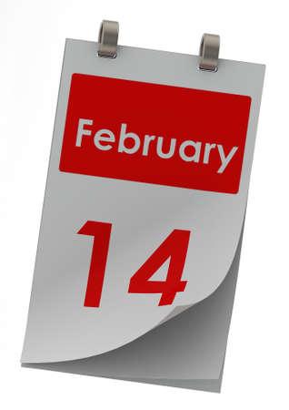 14: 14 de febrero Foto de archivo