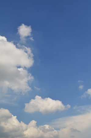 bluey: Blue sky and clouds