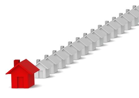 neighbourhood: Leading red house