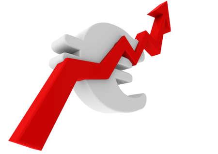 Euro dollar graph moving up Stock Photo - 14235735