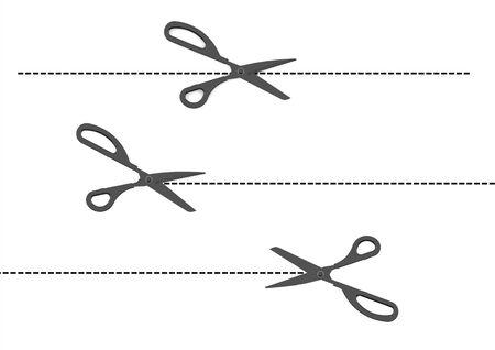 tijeras cortando: conjunto de las tijeras de corte