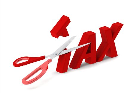 to cut: Cut tax Stock Photo