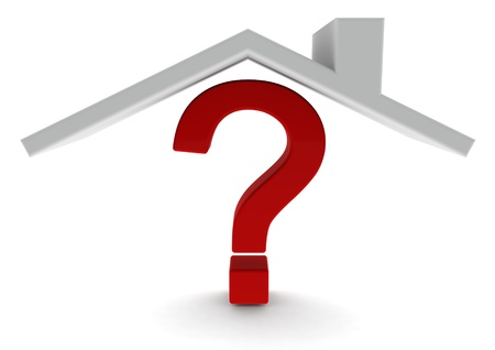 house prices: Question mark house