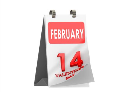 Calendar Valentine s Day Stock Photo - 14235758