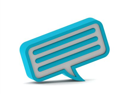 Chat bubble icon. Blue series