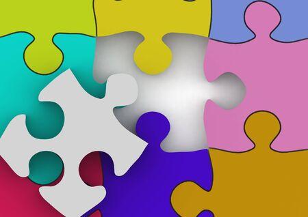 Puzzle Stock Photo - 14284821