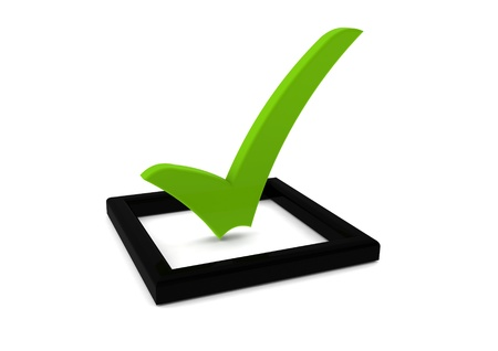 right choice: Check list symbol Stock Photo