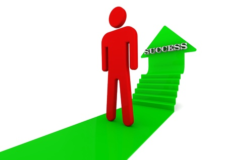 go green logo: Ladder to success Stock Photo