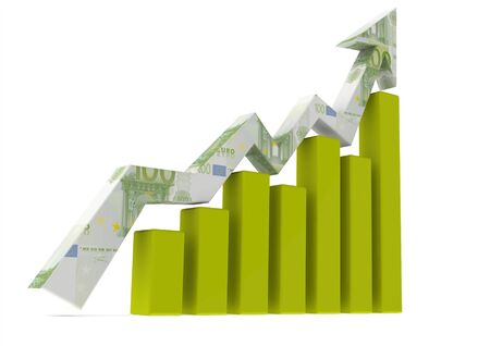 commissions: Euro chart Stock Photo