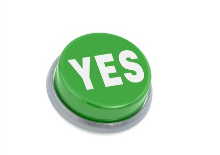 Yes button Stock Photo - 14353613