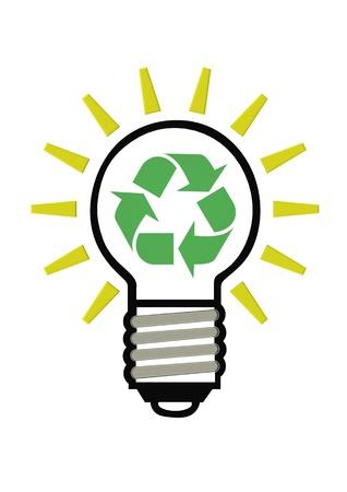 Recycle light bulb Stock Photo