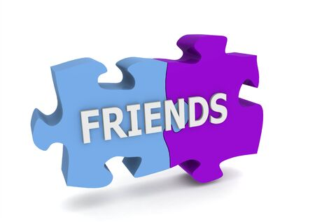 Friends puzzle Stock Photo - 14462441