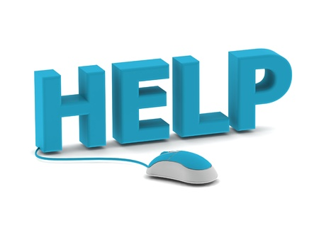 Help and computer mouse Stock Photo - 14462454