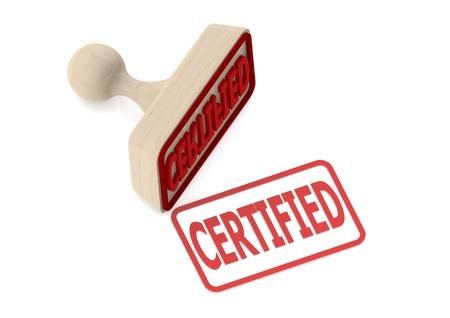 certification: Sello de madera certificada con la palabra