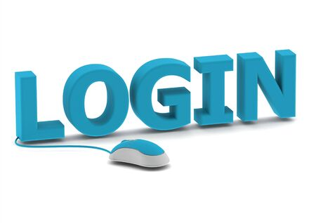 Login and computer mouse