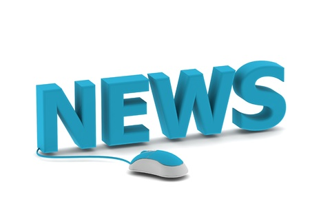 online logo: News and computer mouse