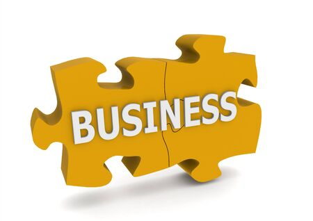 Business puzzle photo