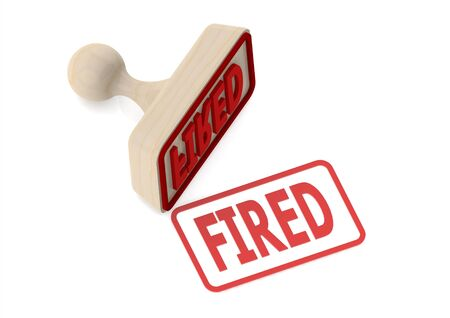 conclude: Wooden stamp with fired word