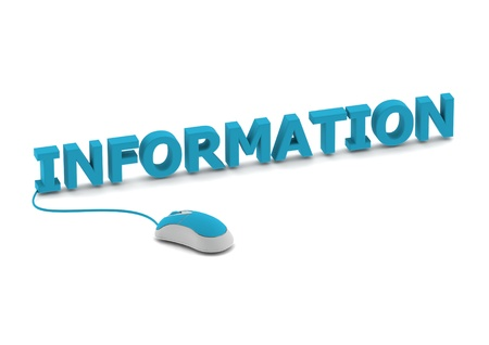 Information and computer mouse photo