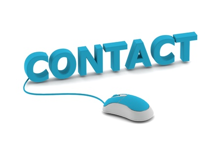 Contact et souris d'ordinateur Banque d'images