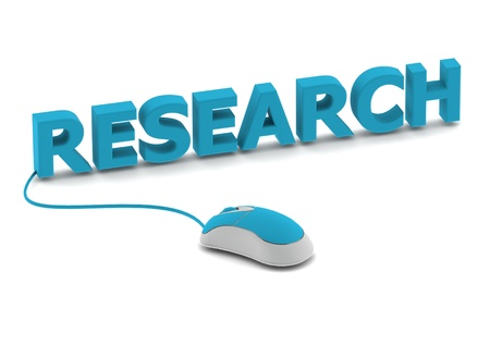 Research and computer mouse Stock Photo - 14462544