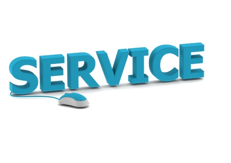 Service and computer mouse Stock Photo - 14462542