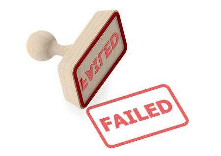 unsuccess: Wooden stamp with failed word Stock Photo