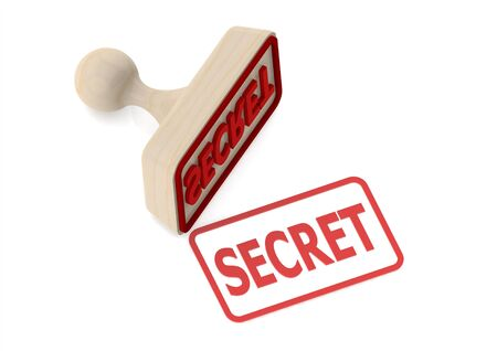 secret word: Wooden stamp with secret word
