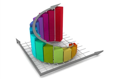 Colorful graph Stock Photo - 14462672