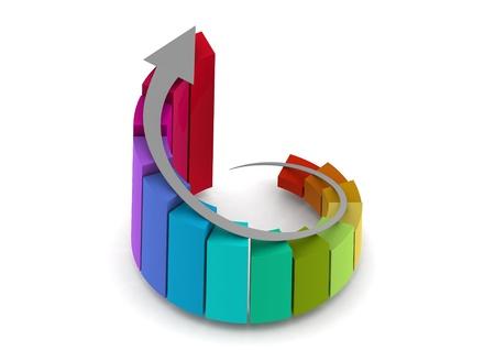 Colorful graph Stock Photo - 14510875