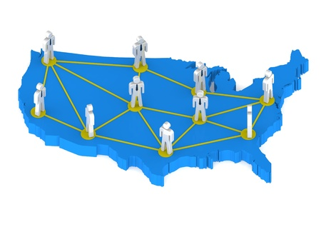 United States networking lines Stock Photo - 14510934