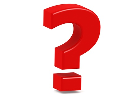 Big Red Question Sign Stock Photo - 14510926
