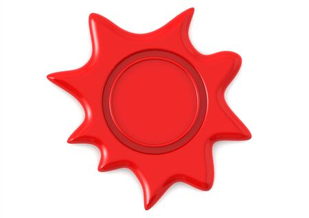 Red wax seal Stock Photo - 14556120