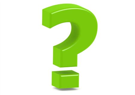 question marks: Green question mark