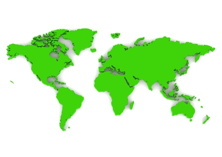 World map green photo