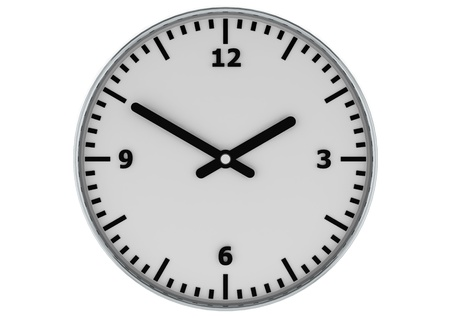 White clock photo