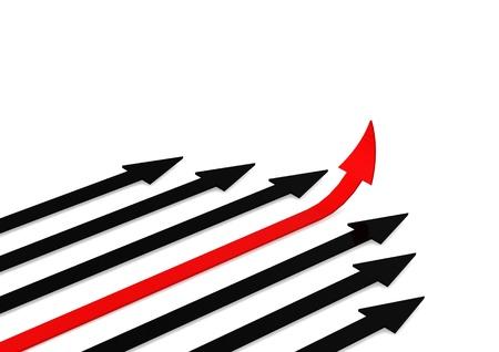 Leading arrow Stock Photo - 14618553