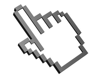 Computer cursor hand photo