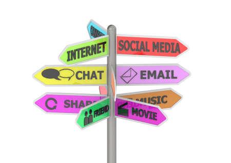social media sign board photo
