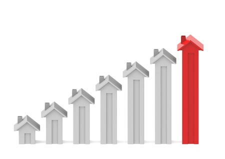 growth: Housing graph Stock Photo