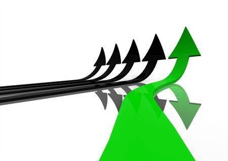 Green arrow Stock Photo - 14749806